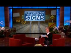 Ellen Shows Some Funny Signs