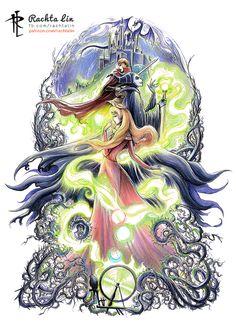 Sleeping Beauty : Aurora, Phillip and Maleficent by Rachta on DeviantArt Arte Disney, Disney Fan Art, Disney Love, Disney Magic, Sleeping Beauty Art, Sleeping Beauty Maleficent, Disney Princesses And Princes, Disney Villains, Maleficent Art