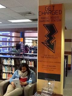 The True Adventures of a High School Librarian: This Week in the Library@HHS February 24-28, 2014 -- charging station
