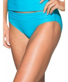 Athleta Womens Shirred Band Bottom Size M - Bora bora blue