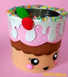 Foam Crafts, Paper Crafts, Diy Crafts For Kids, Arts And Crafts, Aluminum Can Crafts, Pot A Crayon, Happy Birthday Messages, Art N Craft, Creative Activities