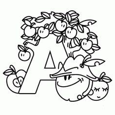 38 Best Mewarnai Huruf Images Sesame Streets Alphabet Letters To