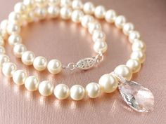 Swarovski Pearl and Crystal by jjensenweddings on Etsy
