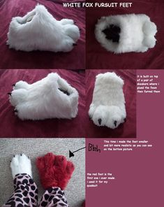 white fox fursuit feet paws by *AlieTheKitsune on deviantART