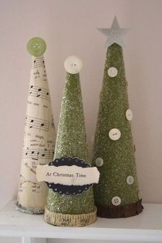DIY Christmas Trees by Knittin4britain