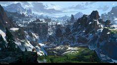Snow mountain ruins, G liulian on ArtStation at https://www.artstation.com/artwork/0dndY