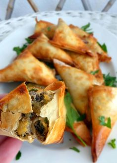 Party Food for Burns' Night: Haggis Samosa's : A bite sized taste of haggis for Burns' night with my recipe for Haggis, Neeps 'n' Tatties Samosa's