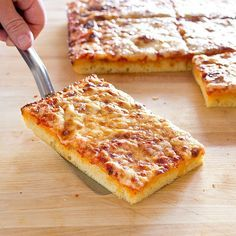 We make Sicilian pie right in our Thick Crust Sicilian-Style Pizza, ensuring tender crust that's crisp on the bottom and not too dense or doughy.