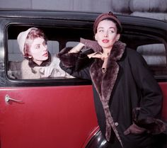 Suzy Parker and Dorian Leigh 1950s