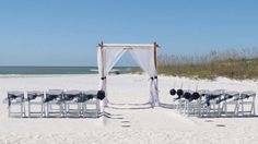 Navy sashes and pomanders against blue Florida skies