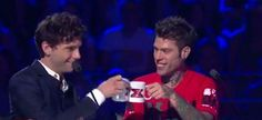 Mika and Fedez at the judging panel on The X Factor Italy