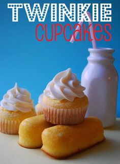 Twinkie Cupcakes by The Domestic Rebel