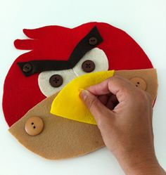 Button Up Angry Bird - super cute - Re-pinned by @PediaStaff – Please Visit ht.ly/63sNt for all our pediatric therapy pins