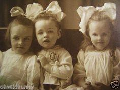 Antique Cabinet Photo 3 Beautiful Children w Doll GRATTAN GIRLS Schenectady NY | eBay