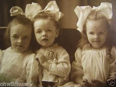 Antique Cabinet Photo 3 Beautiful Children w Doll GRATTAN GIRLS Schenectady NY   eBay