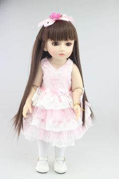 100.00$  Watch now - http://alin5r.worldwells.pw/go.php?t=32469718327 - 18 Inch 45cm SD BJD Vinyl Reborn Baby Doll Toys with clothes NJ878 100.00$