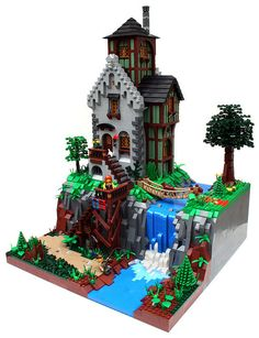 I love this lego waterfall house. I want to live there.