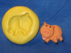 Toy Story 2 Hamm Pig Push Mold Food Silicone #489 Cake Topper Fondant Resin Soap Candle by LobsterTailMolds on Etsy