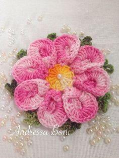 Crochet Chart, Thread Crochet, Love Crochet, Crochet Motif, Irish Crochet, Knit Crochet, Crochet Flower Tutorial, Crochet Flower Patterns, Crochet Designs