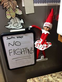 Elf on the Shelf passes on a Message from Santa Ellie Elf relays message from Santa!