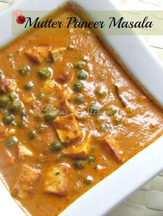 I miss this food...   Mutter Peas Masala / Paneer Peas curry ~~~...~~~ Link updated with actual link to recipe.