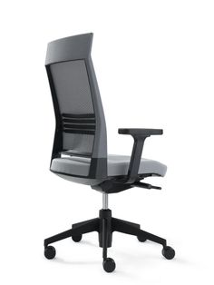 SLAT 16 work chair, upholstered, high backrest with mesh, with headrest, model SLS321
