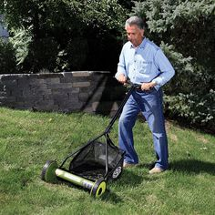 Over the years, lawn mowers have really evolved; in fact the GreenWorks 25052 Push Reel Lawn Mower with Grass Catcher was built to make mowing fun and easier. This lawn mower is. Manual Lawn Mower, Reel Lawn Mower, Push Lawn Mower, Walk Behind Lawn Mower, Yard Care, Prevent Hair Loss, Eco Friendly House, Beautiful Gardens, Catcher