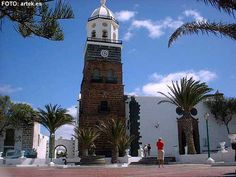 Lanzarote   The picture shows the church of Guadalupe in Costa Teguise, it is one of the oldest churches on the island.