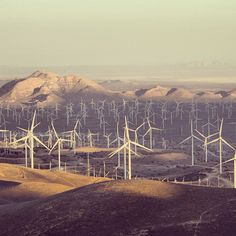 Another shot of the wind farm in Tehachapi, California, home to GE Power & Water's brilliant wind turbine. Photo by Solar Panel Cost, Solar Energy Panels, Solar Panels, What Is Green, Wind Of Change, Energy Resources, Solar Energy System, Sustainable Energy, New Energy