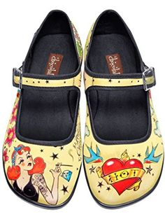 Hot Chocolate Design Chocolaticas Tattoo Women's Mary Jane Flat Multicoloured US Size: 8 ❤ ...