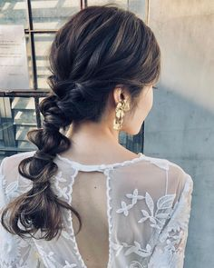 "mona_wd on Instagram: ""・ ・ 最後にヘアチェンジ💇♀️ ・ 国内挙式お色直しヘアーの更にゆるっと版かな? ・ ・ やっぱりこのヘアアレンジ好き🤤💕 ・ そしてこれをほんの数分でちゃちゃっと作ってしまう忍さんが本当に凄すぎる😭✨ ・ ・ ・ ・ Hairmake @shinobunbunmaru…"" Bride Hairstyles, Cute Hairstyles, I Like Your Hair, Bridal Hairdo, Hair Arrange, Hair Setting, Different Hairstyles, Dream Hair, Bridal Makeup"