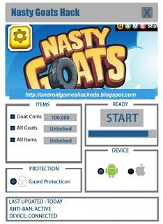 Nasty Goats Hack download for mobile. Download Nasty Goats Hack full version. Nasty Goats Hack for Mac, iOS and Android. Last version of Nasty Goats Hack