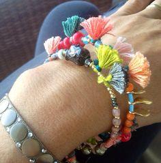 Boho Feather Bracelet  Hippie Hemp Bracelet  Gold Summer Bracelet  Stacking Bracelet  Tribal Friendship Bracelet  Macrame Jewelry