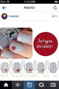 Apple nail art tutorial
