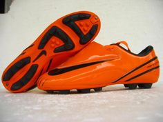 newest be6cb 20d46 Nike Mercurial Vapor IV Orange Firm Ground Soccer Shoes