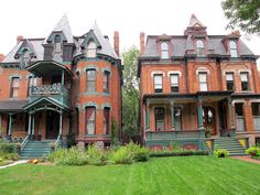 I once upon a time in 1976 owned this mansion (on the left). On Canfield, in the Cass Corridor of Detroit.