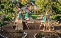 natural playground, playground, nature, adventure playground, montessori school playground