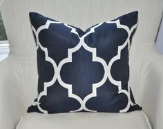 Moroccan Quatrefoil Pillow Cover  18x18  BOTH SIDES  by LilyOnBlue