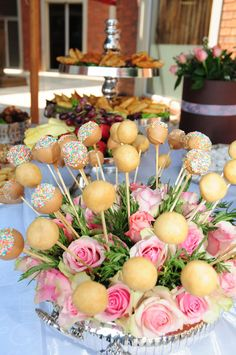 Glam Baby South Africa - Cake Pops with stunning pink roses
