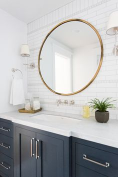 Shop Bryant Sconce (similar), Gilt Minimalist Mirror, Connor Wall Mount Faucet (SIMILAR), Savon De Marseille Extra Pur Liquid Hand Soap, Mission Drawer Pull and more