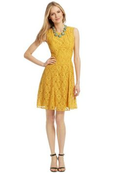 How Cute Is This Mustard Yellow Dress