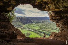 Staring at this view with a dumb look on your face in Cueva Ventana, Puerto Rico