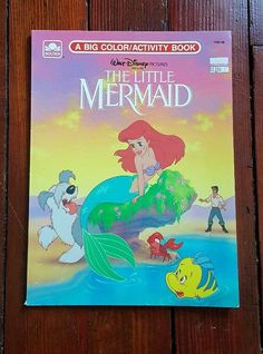 Vintage Walt Disney The Little Mermaid Coloring and Activity Book 1989 Golden