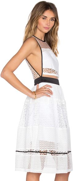 96c41f78bb93 KENDALL + KYLIE Mixed Lace Dress White Lace Cocktail Dress, White Dress,  Cocktail Dresses