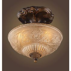 Westmore Lighting 10-in W Golden Bronze Frosted Glass Semi-Flush Mount Ceiling Light bedroom. that's the one.