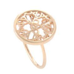 Hermes Rose Gold Openwork Ring