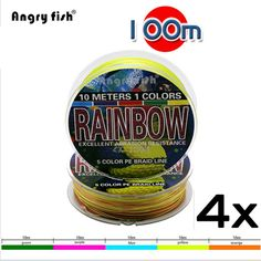 4 Strands 100m PE Super Braided Fishing Line HuoSe Series 5 ColorsTen Meters One Color Fishing Wire Rope Thread #clothing,#shoes,#jewelry,#women,#men,#hats,#watches,#belts,#fashion,#style
