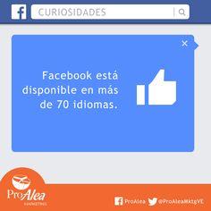 En qué idioma lo tienes tú? #ProAlea #Marketing #SocialMedia #Facebook