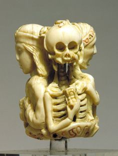 Memento mori rosary bead, made in France or the Netherlands, c.1525-50