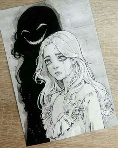 Tumblr Drawings, Creepy Drawings, Dark Art Drawings, Pencil Art Drawings, Art Drawings Sketches, Sketch Drawing, Art And Illustration, Cartoon Illustrations, Design Illustrations